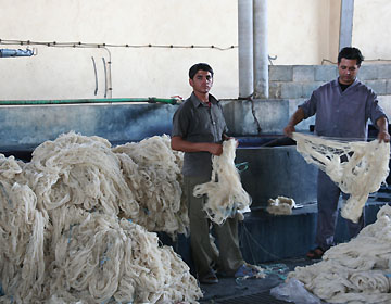 ギャッベ毛糸の準備