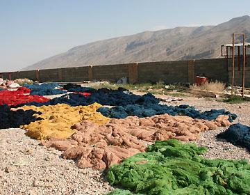ギャッベ毛糸の乾燥