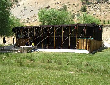 ギャッベ・カシュカイ族のテント
