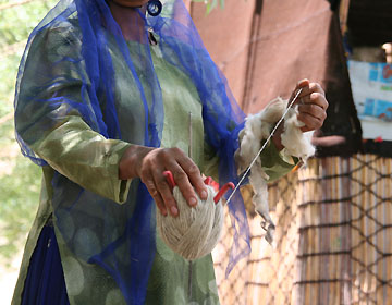 ギャッベの材料の毛糸